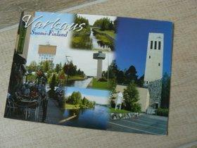 postcard finland varkaus