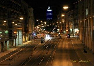 postcard city Munich at night