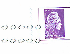 stamp france on postcard 28