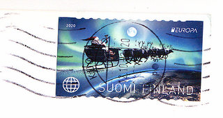 finland stamp with postmark