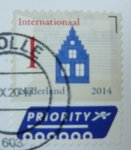 stamp with postmark from netherlands