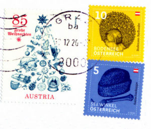 austrian stamps from postcrossing
