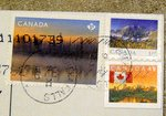 canada stamps with postmark