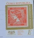 czech stamp with postmark