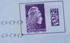 France stamp with postmark
