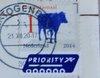 Netherlands stamp with postmark