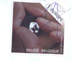stamp Belgium diamond