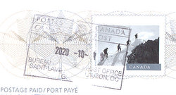 stamp and postmark canada