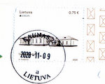 stamp with postmark Lithuania