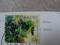 stamp with postmark from Russia
