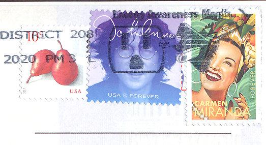 stamps with postmark USA