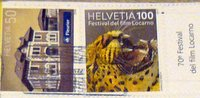 Switzerland stamps with tiger head