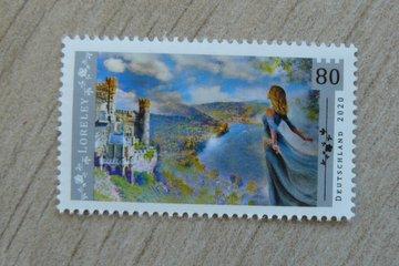 Loreley Rock stamp by Deutsche Post