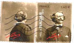 French stamp of Felix Nadar