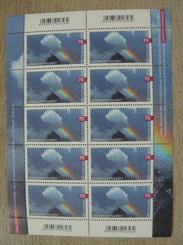 german stamp rainbow fragment