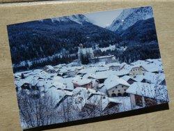 handmade photo postcard switzerland mountain