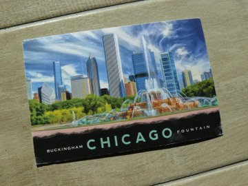 postcard of Chicago