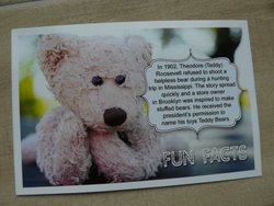 postcard teddy bear