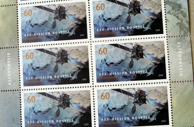 satellite postage stamp Deutsche Post German Mail with ESA