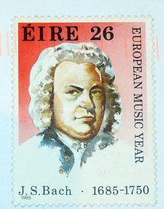 Irish stamp of Johann Sebastian Bach composer