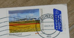 stamp of a train Netherlands