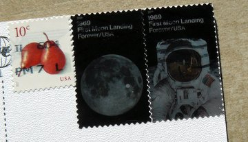 postage stamps first moon landing USA