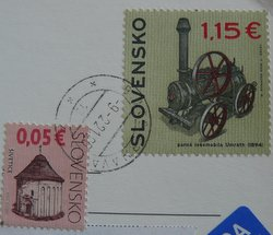 stamps Slovakia steam locomotive Umrath