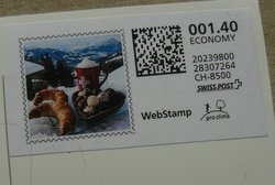 Swiss Post webstamp