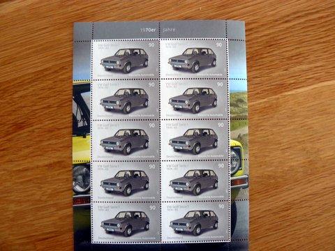 VW Golf I German postage stamp