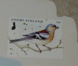 finnish postage stamp bird
