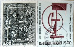 two french postage stamps
