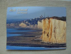 postcard ault-onival cote picarde