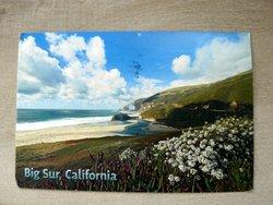 postcard california big sur little sur beach USA