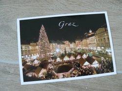 postcard city of Graz christmas market