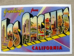 postcard Los Angeles USA