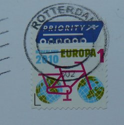 stamp Netherlands 1 euro