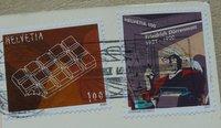 stamps switzerland block of chocolate and friedrich duerrenamatt