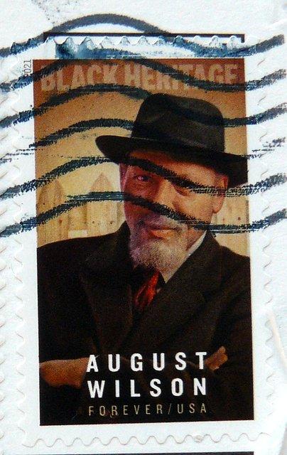 August Wilson playwright U.S. postage stamp