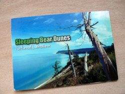 Sleeping Bear Dunes Lake Michigan postcard