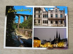 Luxembourg tourist picture postcard