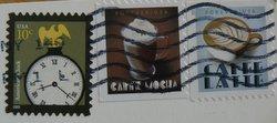 coffee postage stamps USA