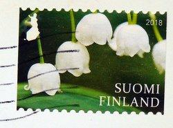 finnish flower stamp 2018