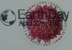 postage stamp usa with postmark earth day 2021