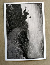 postcard illustration death of sherlock holmes