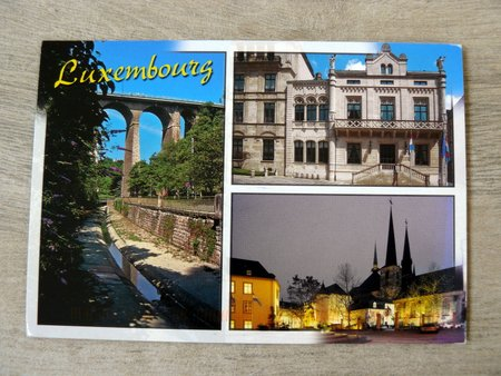 postcard of month month may luxembourg tourist