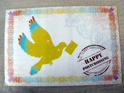 happy postcrossing postcard kazakhstan