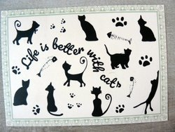Life is better with cats postcard