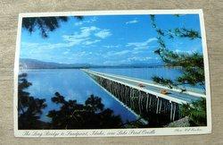 long bridge to sandpoint Idaho postcard