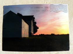 farm postcard USA