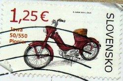jawa pionyr 50/550 postage stamp slovakia